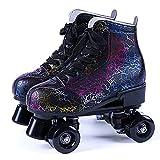 Patins à Roues Enfant,Roller Skates,Roller Quad,avec Roues Lumineuses,Rollers,Beginner Patins à roulettes,Patins,Excellents Cadeaux,Respirant et Confortable,pour Enfants Garçons Filles
