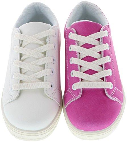 Schuhe-Trentasette Kinder Mädchen Damen UV-Farbwechsel-Sneaker weiß/pink, Größe:40, Farbe:Pink