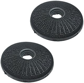 Qualtex 2X 190Mm Round Charcoal Cooker Hood Carbon Filters Compatible With Hygena Cooker Hoods