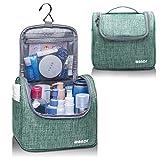 Neceser colgante de viaje, neceser de maquillaje, bolsa de ducha, bolsa para hombres y mujeres, impermeable (azul marino)