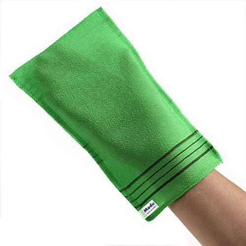 Price comparison product image Modu Scrub Korean Exfoliating Mitt Italy Towel Washcloth Bath Scrub Removes Dead Skin (Large 10 pcs)