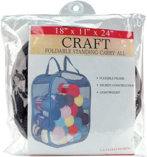 """General Foldable Standing Carry All 18""""X11""""X24""""-Black"""