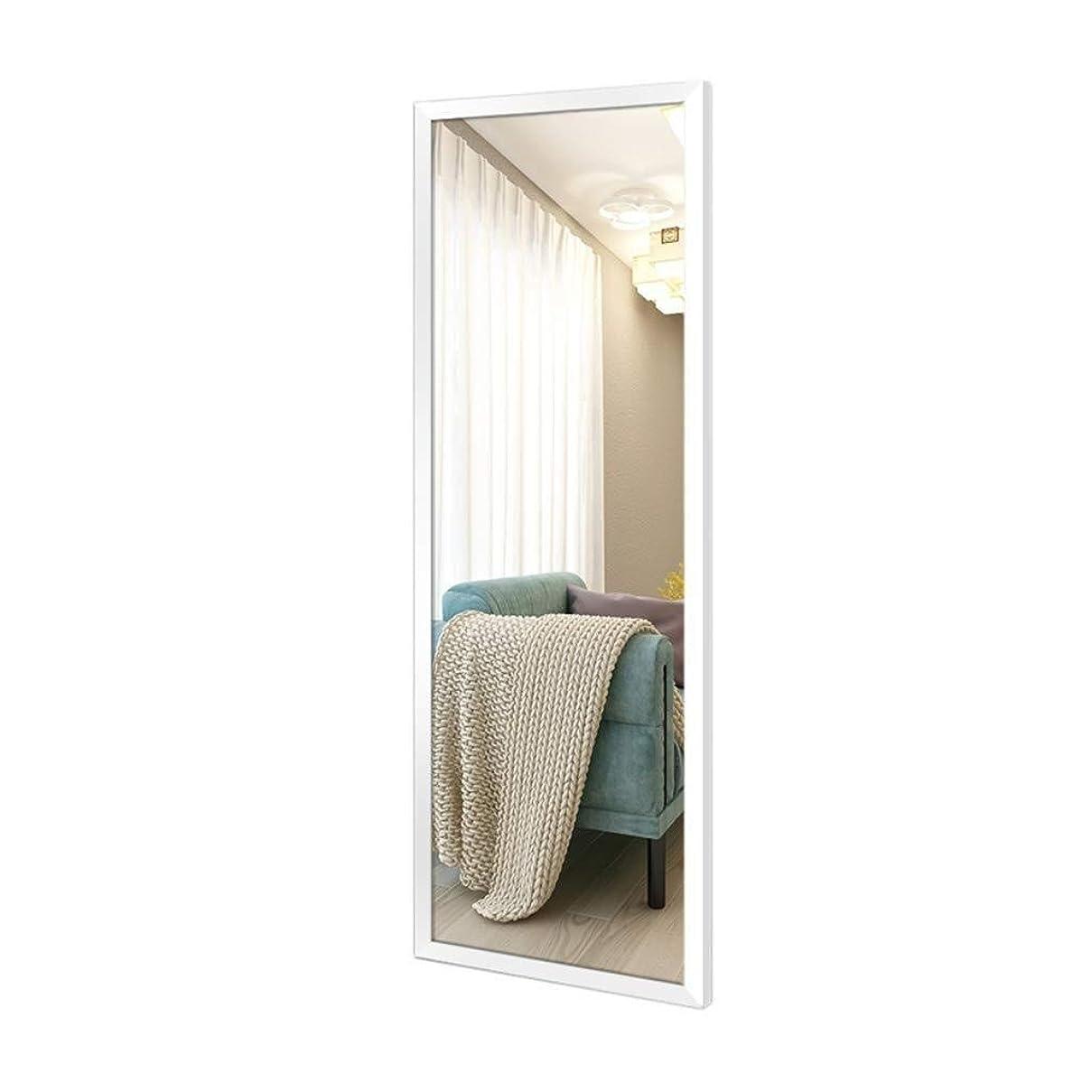 降雨葉を集める石膏RENKUNDE フィッティングミラースリーサイズは選択することができますフルボディメイクアップミラーウォールテストリビングルームのベッドルームウォールデコレーションシンプルな白い長方形フレームミラー メイクアップミラー (Size : 40x120cm)