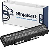 NinjaBatt Laptop Battery for Samsung AA-PB9NC6B AA-PB9NS6W AA-PB9NS6B NP300V5A R505 R540 R720 R580 P510 R530 RV515 P530 Q430 R420 R480 RF510 RV510 NP550P5C – Black - High Performance [6 Cells/4400mAh]