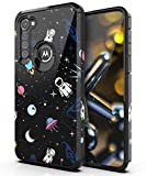 PBRO Case for Moto G Stylus Case,Cute Astronaut Case Dual Layer Soft Silicone & Hard Back Cover Heavy Duty PC+TPU Protective Shockproof Case for Motorola G Stylus-Space/Black