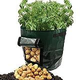 Dreamerd - Confezione da 2 vasi in tessuto aerazione, con patta per coltivare verdure, patate, carote e cipolla, confezione da 2