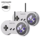 2X Classic SNES USB Controller Gamepad , kiwitatá Retro USB Super NES Wired Game Controller Joystick for Windows PC Mac Raspberry Pi