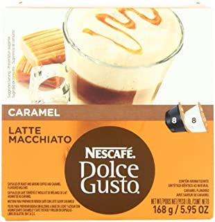 Nescafé Nescafe Dolce Gusto for Nescafe Dolce Gusto Brewers, Caramel Latte Macchiato, 16 Count (Pack of 3) FlavorName: Car...
