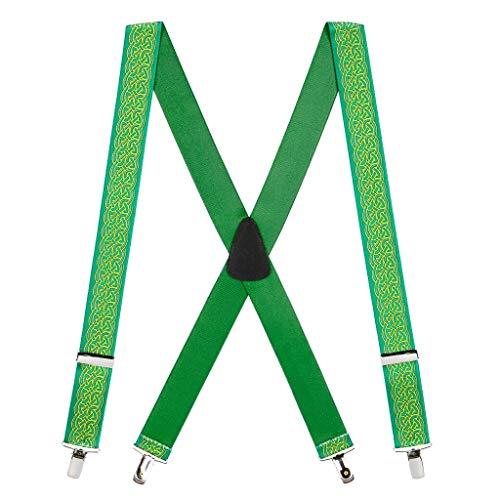 SuspenderStore Men's Celtic Scroll Suspenders - CLIP