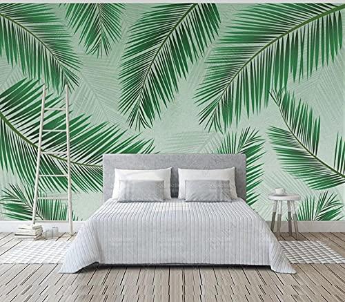Papel Pintado Pared Dormitorio Salon Decoración de Paredes Planta De Hojas Verdes Fotomurales Decorativos Pared Papel Tapiz Custom Mural Pared 400x280cm
