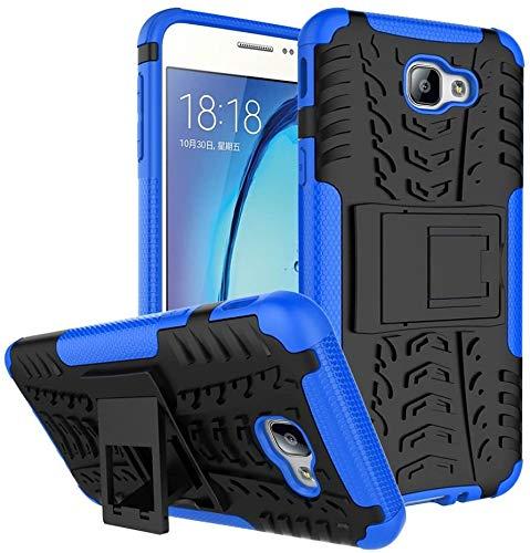Capa Capinha Anti Impacto Para Samsung Galaxy J5 Prime e Galaxy On 5 2016 Case Armadura Hybrid Reforçada Com Desenho De Pneu - Danet (Preto com azul)