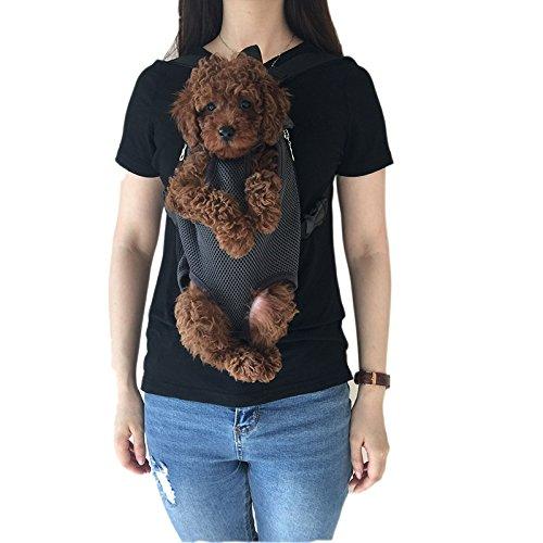 Wiiguda@Mascotas Mochila Frontal, Bolso para Perros y Gatos, Manos Libres, Salen las Patas de Mascotas de Tamano Mediano (2,5-3,5kg)