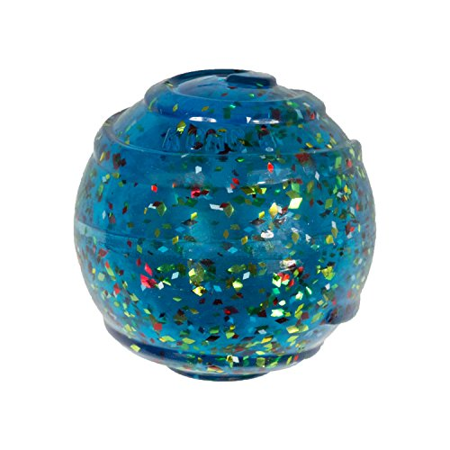 KONG - Squeezz Confetti Ball - Durable Squeaky Dog Chew and Fetch Toy - For Small Dogs (Assorted Colors)