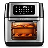 Innsky Friggitrice ad aria 10L, Forno ad aria calda 10 in 1 con Touch Screen a LED digitale,...