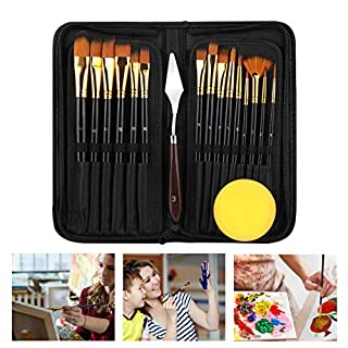 Acrylic Paint Brushes for Painting, Paint Brush Set for Kids & Adults 17Pieces, Eocean Oil Paint Brushes Professional Watercolor Brushes with Standable Organizing Case(17) (B08QHSM999)   Amazon price tracker / tracking, Amazon price history charts, Amazon price watches, Amazon price drop alerts