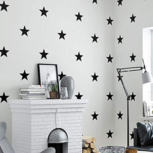 ZYZED Tapete Schwarz Weiß Star Baby Kinderzimmer Tapetefür Kinderzimmer NeutralTapeteFür Kinderzimmer Dekorabdeckungen, Weiß, 10mx53cm
