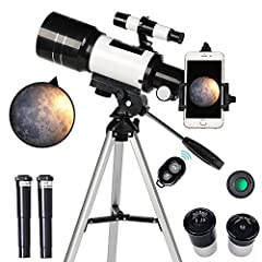 🔭【BEST Telescope for Kids& Beginners!】 Toyerbee telescope meets all the needs of beginners, and the kids' astronomical journey begins from here! Equipped with 3X Barlow len and two eyepieces, H20mm and H6mm, kids can get magnification of 15X to 150X....