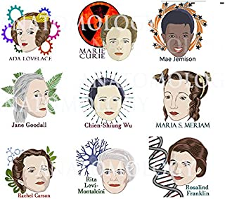9 Women of Science Temporary Tattoos