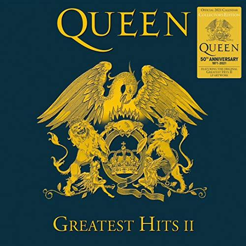 Official Queen 2021 Calendar - Collector's Edition Record Sleeve Wall Format Calendar