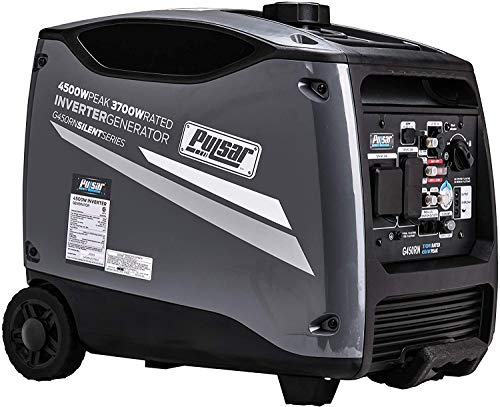 Pulsar Products G450RN, 4500W Portable Quiet Remote Start & Parallel Capability, CARB Compliant Inverter Generator, 4500-Watt Gray