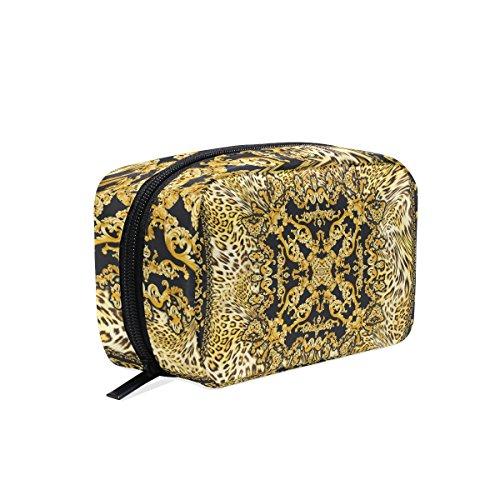 COOSUN - Pochette de maquillage baroque léopard baroque - Trousse de toilette pour femme