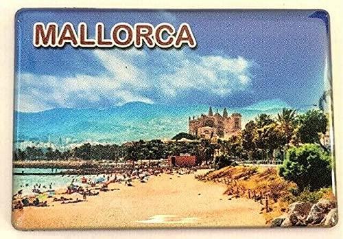 Imán para nevera Mallorca, Islas Baleares, España, Souvenir Imán para nevera Spain Fridge 0704213