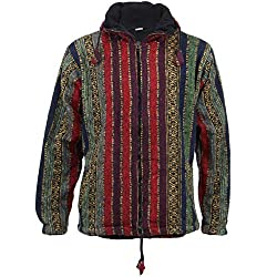 Practical, loose fitting hooded zip jacket with pockets on both sides at the front and fully fleece lined. Made from a soft brushed cotton fabric. Designed for a Loose Fit. This product is handmade, it is not mass produced so slight differences and m...