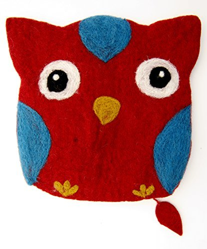 Frabjous Fibers Mama Owl Needlecase and Notions Bag (Red)