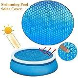 NEU Schwimmbad Solarabdeckung Rund 360cm, Solarfolie Poolabdeckung Blau Luftpolster Isolierfolie UV Sonnenschutz Staubschutzhülle für Rahmen- oder Schlauchboote Pools, Whirlpool, Wasser warm halten