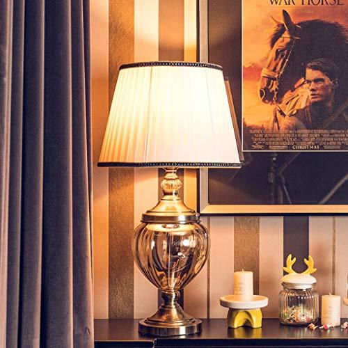 Lámpara de Mesa Al estilo europeo de metal lámpara de mesa de café de cristal de vidrio de lámpara de mesa Decoración del ornamento sala de mesa de TV contador de la lámpara Iluminación de Interior