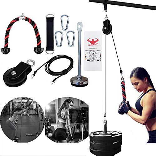 Unterarm Handgelenk Roller Trainer Muskelkraft Blaster Übungsgerät mit LAT Pulldown und Heavy Duty Lift Seilzugsystem für Bizeps-Curls, Trizeps-Verlängerungen Fitness Gewichte Grip Workout