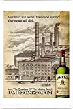 Tin Sign Metal Poster Plate (8'x12') of Jameson Whiskey: Jameson 1780, Distillery by Food & Beverage Decor Sign