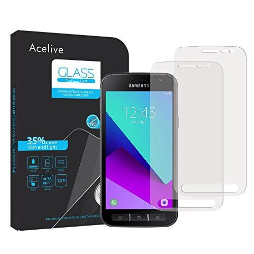 Samsung Galaxy Xcover 4 Panzerglas, Acelive 2 Stück Gehärtetem Glas Panzerfolie Schutzfolie Displayschutzfolie Folie für Samsung Galaxy Xcover 4