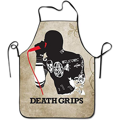 BURAK BULBUL Women's Apron - Death Grips Poster Kitchen and Cooking Apron, Durable Stripe for Cooking, Grill and Baking