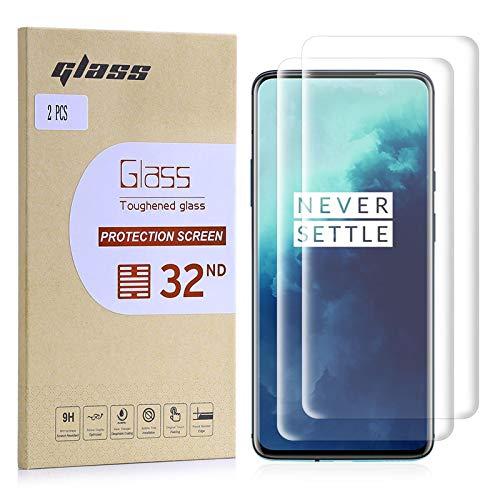 32nd Schermbeschermer, [Bubble gratis installatie], Gehard Glas Scherm Beschermer voor OnePlus 7T Pro [2 stuks]