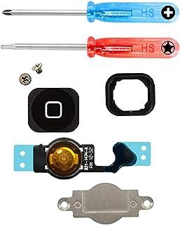 MMOBIEL Repuesto Botón de Inicio Home compatible con iPhone 5 (Negro) con Cable Flex Suporte Metálico Inc Destornillador