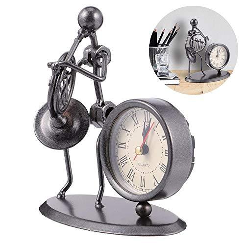 Reloj vintage de hierro modelo de gente reloj creativo sin batería para el hogar reloj de escritorio decorativo escultura estatua para el hogar/oficina/dormitorio decoración