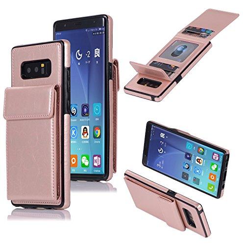 Cover Galaxy S7 Edge,Oihxse Custodia Compatibile con Galaxy S7 Edge Portafoglio,PU Pelle Premium Cover,Carta Fessura Flip Wallet Case Cover con Chiusura Magnetica Cover Stile (rosso)
