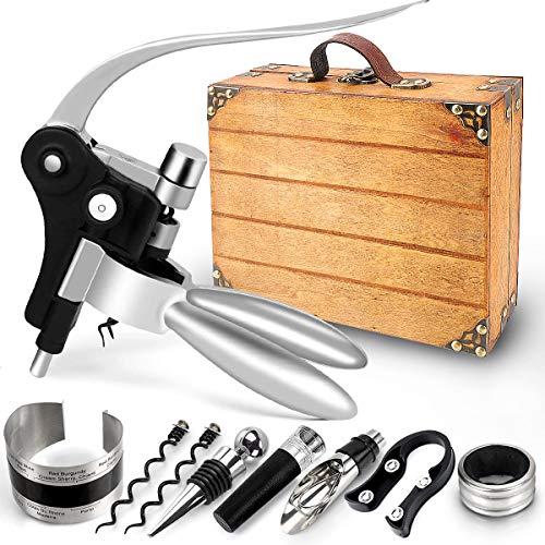 RERXN Caja de madera antigua de accesorios de vino conjuntos de regalo...