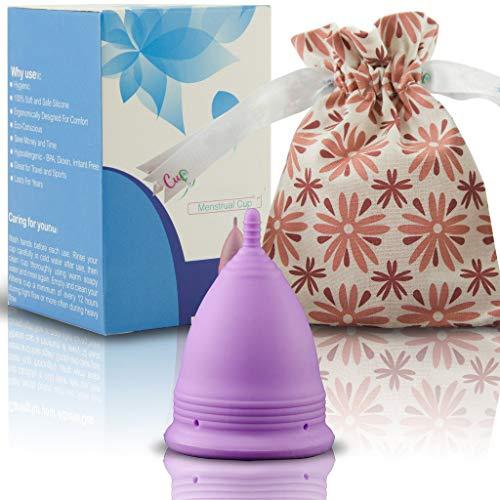 Copa Menstrual Lily Cup Compact, Copa Menstrual Soft - Mujeres Con Vejigas Sensibles, Calambres, CóLicos Menstruales - Ayuda A Prevenir Cistitis, Copa Menstrual Sport, Cycle Copa Menstrual (S)