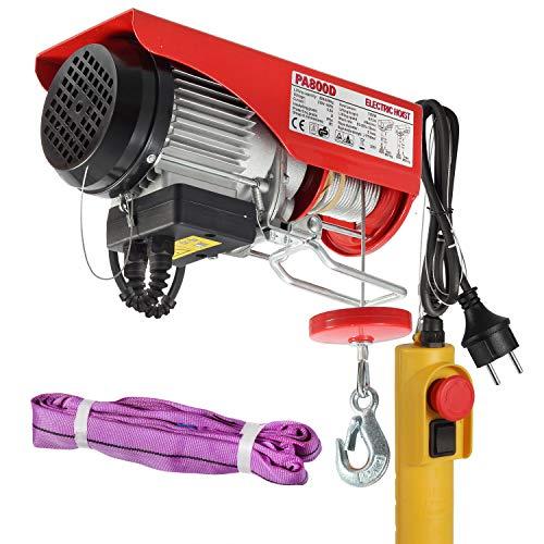Partsam Polipasto eléctrico 400KG/800kg 1350W 1940lbs con control Para talleres taller de la tienda casera