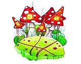 Y·JIANG Pintura de gnomo de Pascua por números, color rojo Agaric para gnomos DIY lienzo acrílico pintura al óleo por números para adultos niños decoración de pared del hogar, 50 x 50 cm