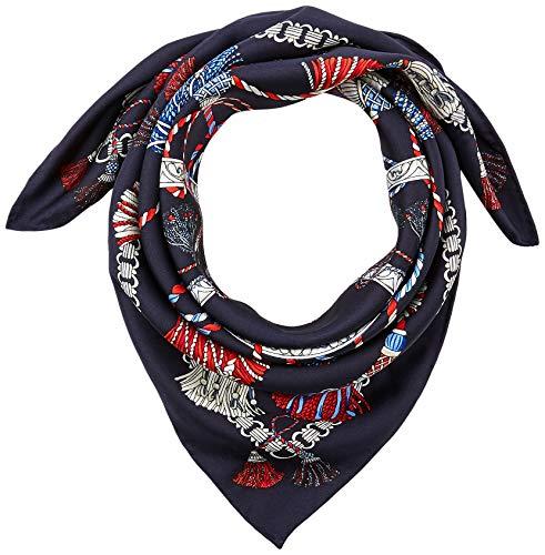 Roeckl Damen Oriental Tassels 53x53 Mode-Schal, Multi Navy, ONE Size