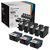 LD Compatible Ink Cartridge Replacement for Kodak 10XL High Yield (5 Black, 3 Color, 8-Pack)