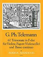 TELEMANN - Trio Sonata en Fa Mayor (TWV:42/f 1) para Violin, Fagot y BC (Partitura/Partes)