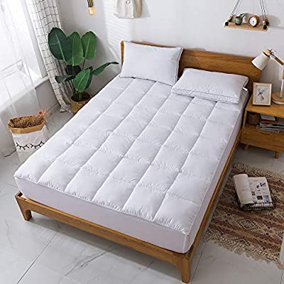 WhatsBedding Mattress Pad California King Size - Breathable Fitted Sheet