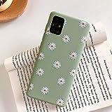 ZTOFERA Hülle für Samsung A51, Gänseblümchen Blume Design Schlank Hülle, Weich Flexibel Anti-Kratzer Bumper Schutzhülle für Samsung Galaxy A51 - Grün