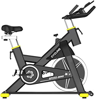 Exercise Bike Stationary 440 Lbs Weight Capacity - Indoor Cycling Bike with Comfortable Seat Cushion, Tablet Holder and LC...