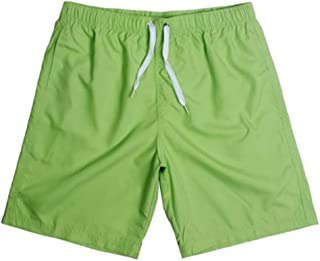 Mens Swim Trunks Solid Quick Dry Swim Suit Without Mesh Lining