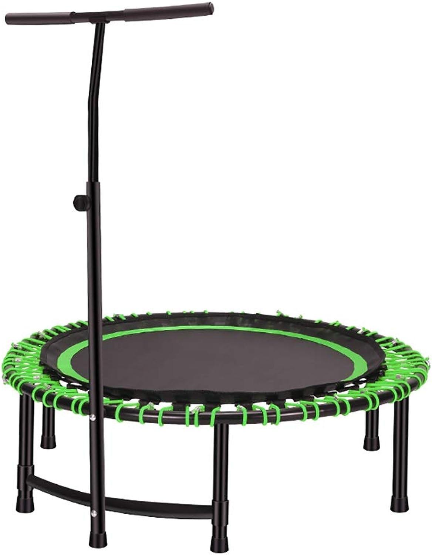 Indoortrampoline Fitness Trampolin, 114 cm Durchmesser, Indoortrampolin mit hhenverstellbarer Haltegriff, Belastbar Bis 150 Kg, Fitness Und Ausdauertraining